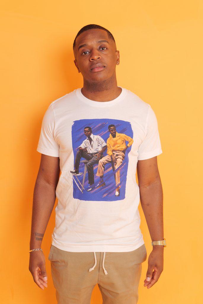 T-Shirt à col rond à imprimé unisexe | Kin La Belle Urban Streetwear Vêtement Haut
