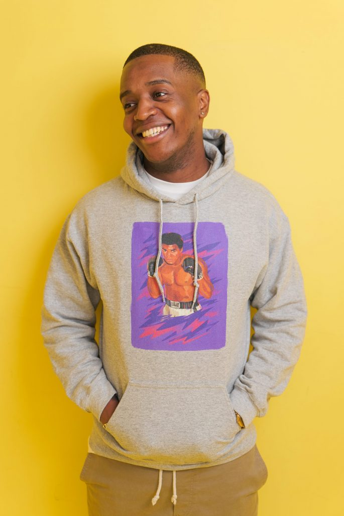 Hoodie à imprimé unisexe Mohamed Ali   Kin La Belle Haut Vêtement Urban Streetwear