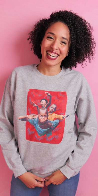 Pull à col rond à imprimé unisexe | Kin La Belle Urban Streetwear Vêtement Haut