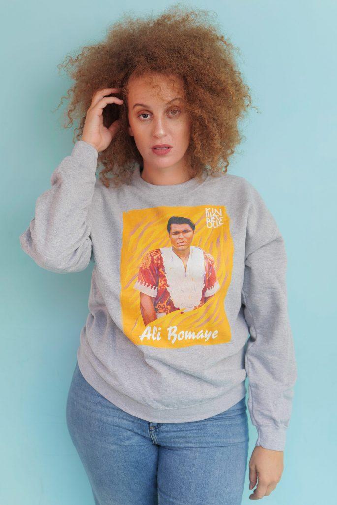 Hoodie à imprimé unisexe   Kin La Belle Urban Streetwear Vêtement Haut à capuche