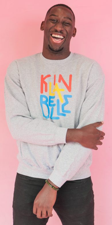 Pull à col rond à imprimé unisexe | Kin La Belle Urban Streetwear Vêtement Haut Gris