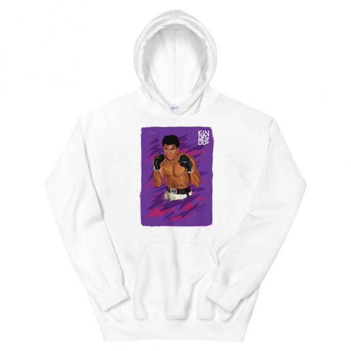 Hoodie à imprimé unisexe Mohamed Ali   Kin La Belle Urban Streetwear Vêtement Haut à capuche