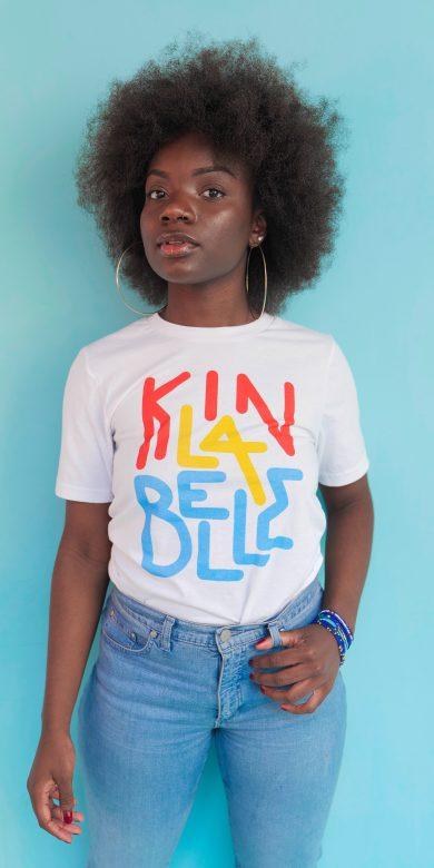 T-shirt à imprimé unisexe Kin La Belle Urban Streetwear Haut Vêtement